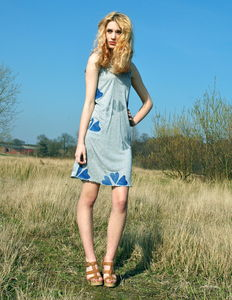 Silver And Blue Hearts Dress