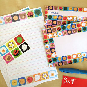 look around letter set with writing paper and envelopes