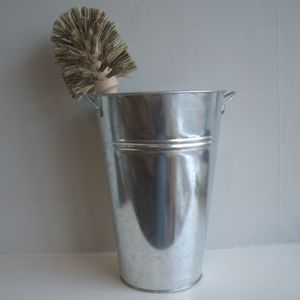 Toilet Brush And Galvanised Bucket - toilet brushes