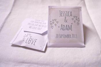 Doodle Wedding Tea Bag Favour A Pack Of 10