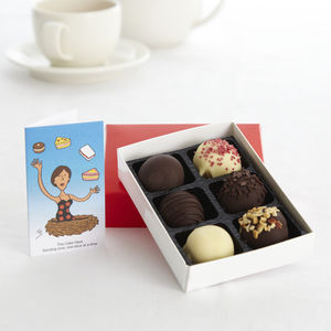 Chocolate Dipped Cake Balls Small Box - food gifts