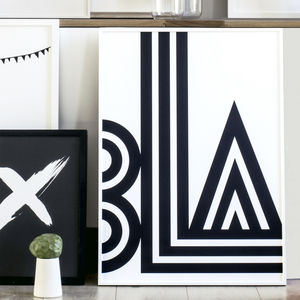 'Bla' Print - less ordinary wall art