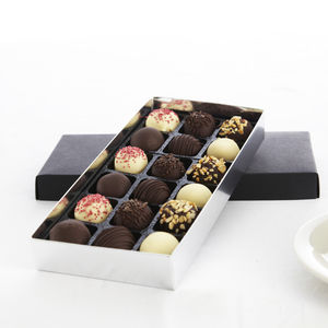 Chocolate Dipped Cake Balls Large Box - food gifts