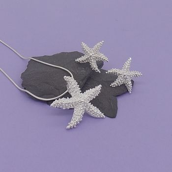 Starfish Pendant And Earrings