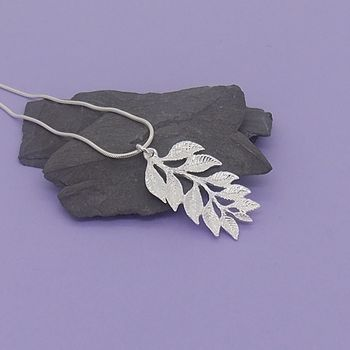 Silver Leaf Spray Pendant