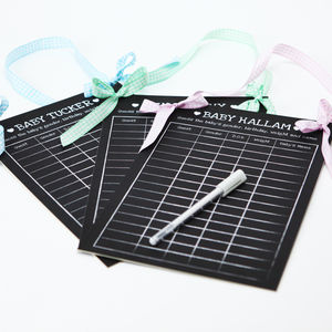 Personalised Baby Shower Predictions Board - keepsakes