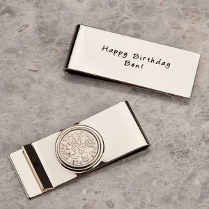 Lucky Sixpence Coin Money Clip - wallets & money clips