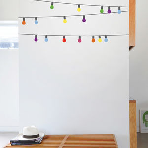 Cafe Lights Wall Stickers By Mina Javis - home decorating