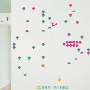 Centipede 'Re Stick' Wall Stickers By Atari - home decorating