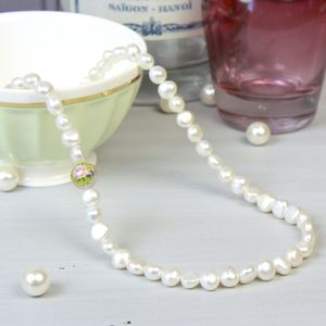 Dainty Freshwater Nugget Pearl Necklace