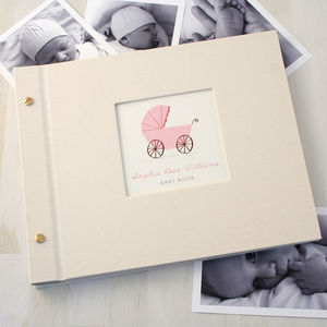 Personalised Baby Book - living room