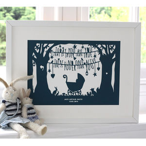 Dr Seuss New Baby Christening Print - pictures & prints for children