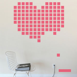 Heart Breakout Wall Stickers By Upper Playground - home decorating