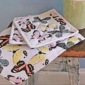 Butterfly Kitchen Textiles