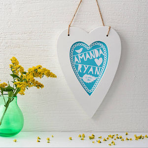 Personalised Framed Heart Print - hanging decorations