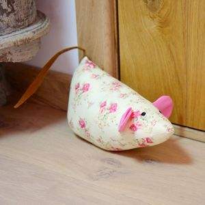 Vintage Rose Mouse Door Stop - door stops