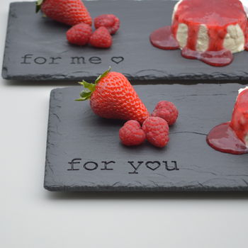 Engraved slate serving boards