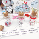 Message In Bottle Good Luck Fortune Necklace Gift