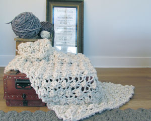Knit Kit For Hugo Chunky Knit Blanket 150cm X 100cm