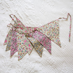 Ditsy Print Cotton Bunting - outdoor decorations