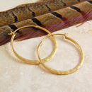 Battered Small Gold Hoop Earrings