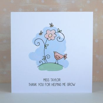 Thank You Teacher, Personalised Card