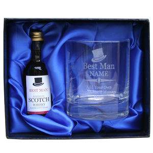 Best Man Gift Set With Whisky And A Personalised Glass - food & drink gifts