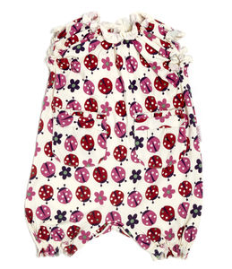 Lucy And Sam Ladybird Print Frill Romper - clothing