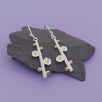 Maritima Budding Stem Silver Earrings