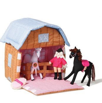 Stable With Horses Play Set