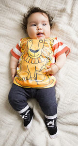Child's Wipe Clean Striped Lion Top