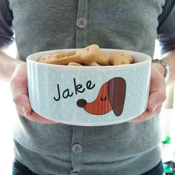 Personalised Ceramic Dog Bowl Large