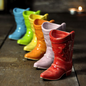 Cowboy Boot Shot Cups - dining room