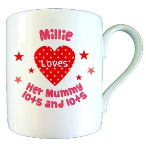 Personalised Love Heart Mummy Mug - mugs