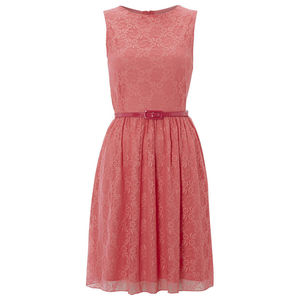 Lace Summer Dress. With Matching Colour Lining And Belt - dresses