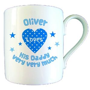 Personalised Love Heart Daddy Mug - mugs