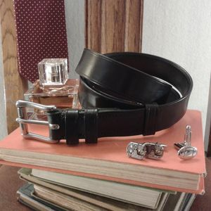 Handmade Alpha English Leather Belt - mens