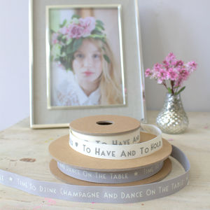 Wedding Ribbon - diy stationery