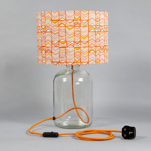 Polygon Window Orange Demijohn Lamp