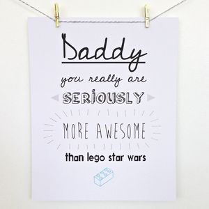 'More Awesome Than Lego' Print - home sale