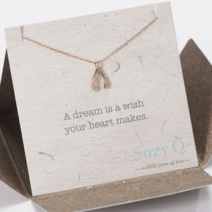 Rose Gold Plated Wishbone Necklace - necklaces & pendants