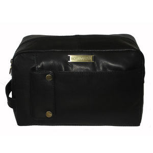 Mens Leather Wash Bag 25% Off - wash & toiletry bags