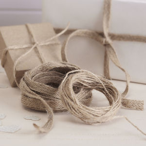Hessian Ribbon And Twine Wrapping Ribbons - interests & hobbies