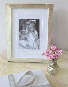 Silver Textured Photo Frame - picture frames