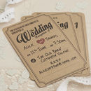 Brown Kraft Vintage Evening Wedding Invitations