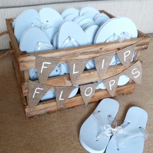 Personalised Crate Of Wedding Flip Flops - wedding favours