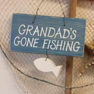 Personalised Fishing Sign - baby's room