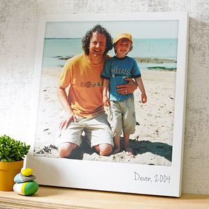 Personalised Giant Polaroid Canvas - gifts for him