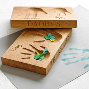 Tray With Hand Impression And Handwriting - jewellery gifts for fathers