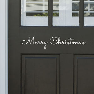 'Merry Christmas' Door Or Wall Sticker - christmas wall stickers